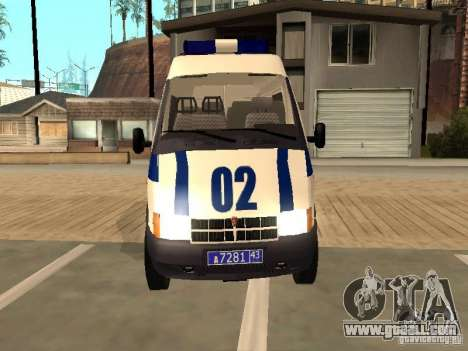 GAZ 2217 Sobol POLICE for GTA San Andreas right view