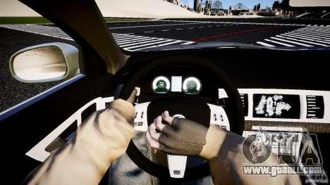 Jaguar XFR 2010 for GTA 4 back view