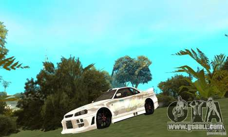 Nissan SkyLine R34 Tunable V2 for GTA San Andreas left view
