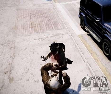 Werewolf from Skyrim for GTA 4 fifth screenshot