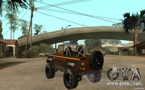 Land Rover Defender Extreme Off-Road for GTA San Andreas back left view