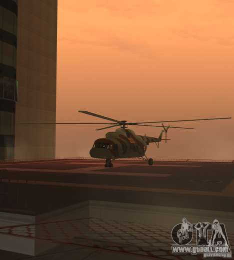 MI-17 Military for GTA San Andreas back left view