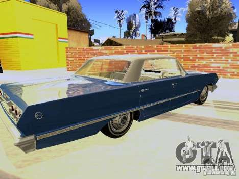 Chevrolet Impala 4 Door Hardtop 1963 for GTA San Andreas back left view