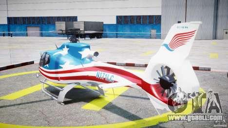 Eurocopter EC 130 B4 USA Theme for GTA 4 back left view