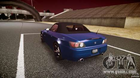 Honda S2000 2002 v2 for a quiet ride for GTA 4 side view