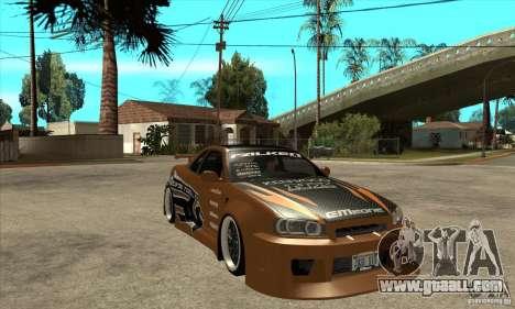 Nissan Skyline GTR - EMzone B-day Car for GTA San Andreas back view