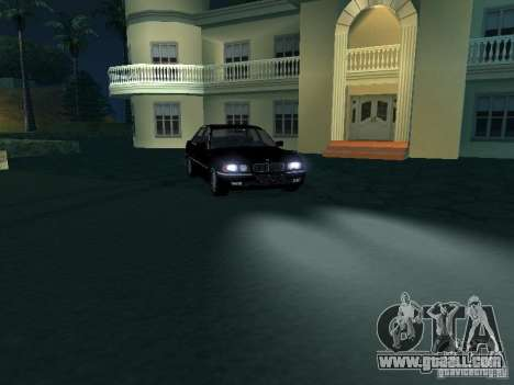 BMW 740I E38 (RUS) for GTA San Andreas inner view