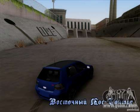 Volkswagen Golf GTi 2003 for GTA San Andreas upper view