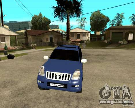 2009 toyota land cruiser prado for GTA San Andreas