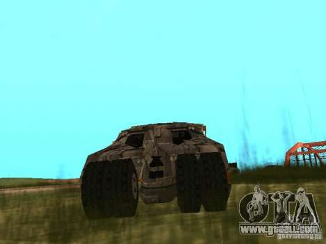 Batman Car for GTA San Andreas right view
