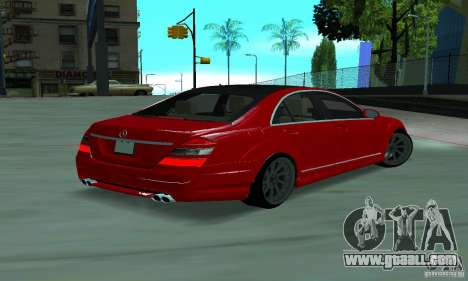 Mercedes-Benz S65 AMG Estate Edition for GTA San Andreas back left view