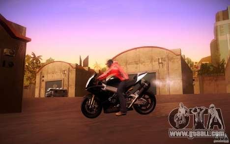 Aprilia RSV-4 Black Edition for GTA San Andreas back view