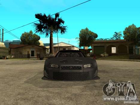 Nissan Skyline R34 GT-R for GTA San Andreas right view