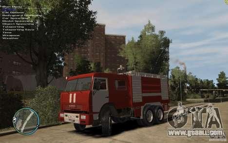 Kamaz FIREFIGHTER for GTA 4 left view