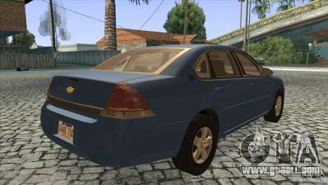 Chevrolet Impala for GTA San Andreas right view