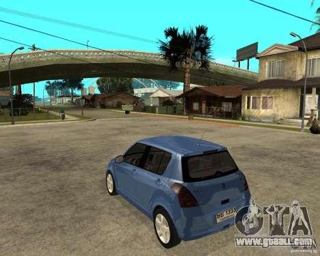 2007 Suzuki Swift for GTA San Andreas left view