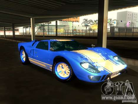 Ford GT40 1966 for GTA San Andreas bottom view