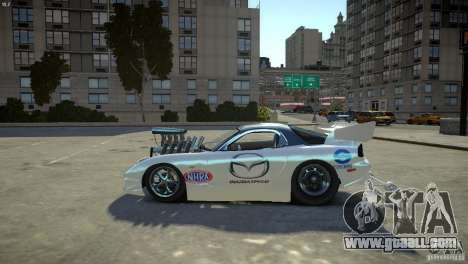 Mazda rx7 Dragster for GTA 4 left view