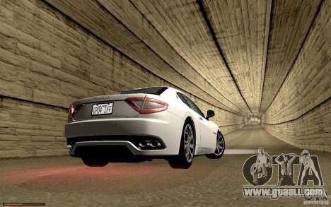 Maserati Gran Turismo 2008 for GTA San Andreas interior