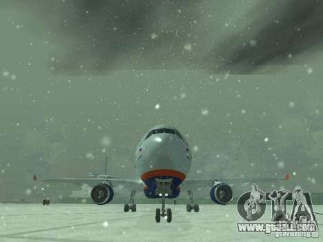 The Airbus A330-300 Aeroflot for GTA San Andreas side view
