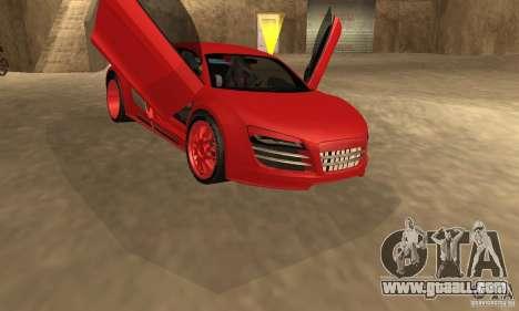 Audi R8 Custom for GTA San Andreas back left view