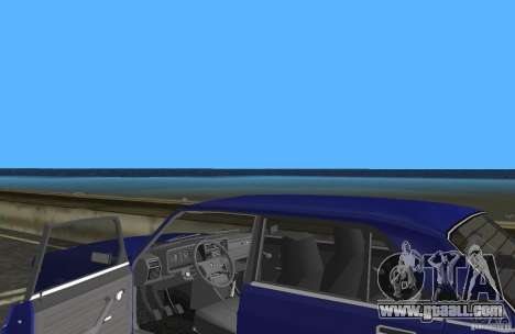 VAZ 2107 LADA car for GTA Vice City inner view