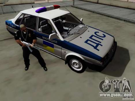VAZ 21099, police for GTA San Andreas inner view