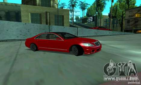 Mercedes-Benz S65 AMG Estate Edition for GTA San Andreas back view