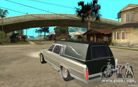 Cadillac Fleetwood 1985 Hearse Tuned for GTA San Andreas back left view