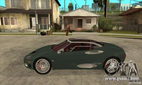 Spyker C8 Laviolete for GTA San Andreas left view