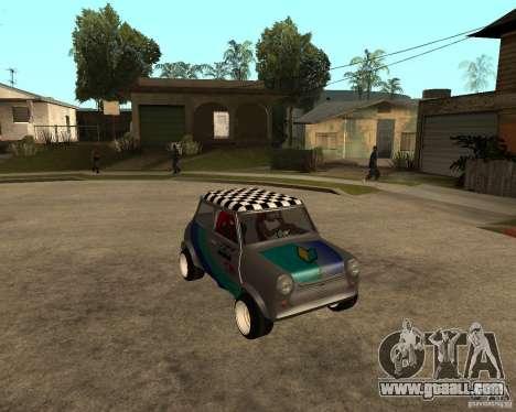 Mini Cooper for GTA San Andreas back view
