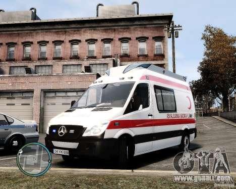 Mercedes Sprinter Turkish Ambulance for GTA 4