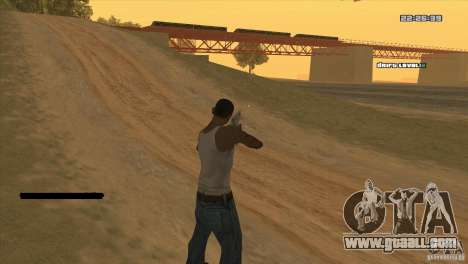 The point instead of the sight for GTA San Andreas