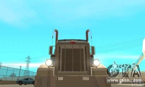 Peterbilt 379 Custom And Tanker Trailer for GTA San Andreas side view