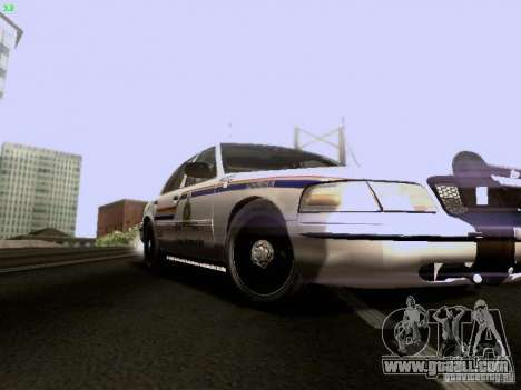 Ford Crown Victoria Canadian Mounted Police for GTA San Andreas back view
