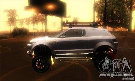 Land Rover Evoque for GTA San Andreas left view