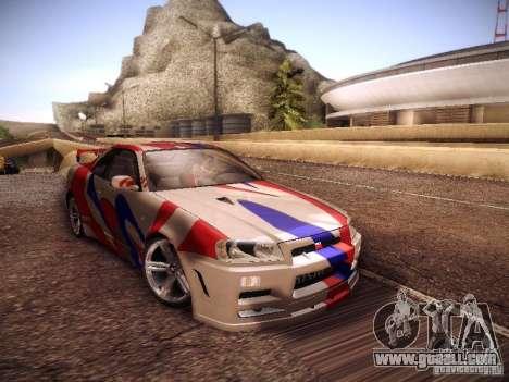 Nissan Skyline full tune for GTA San Andreas
