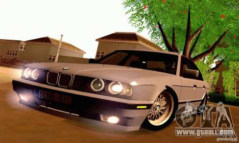 BMW E34 525i for GTA San Andreas inner view