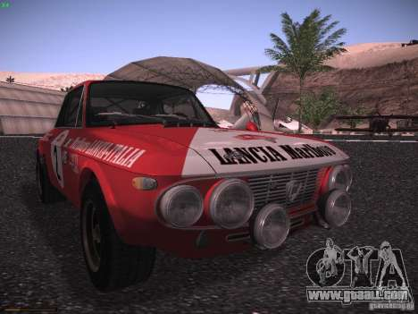 Lancia Fulvia Rally Marlboro for GTA San Andreas left view