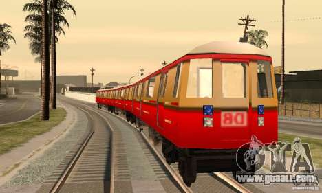 Liberty City Train DB for GTA San Andreas back left view