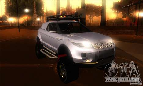 Land Rover Evoque for GTA San Andreas back view
