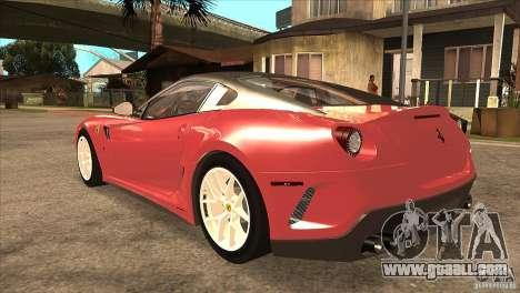 Ferrari 599 GTO 2010 V1.0 for GTA San Andreas back left view