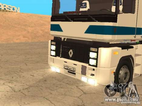 Renault Magnum Sommer Container for GTA San Andreas back view