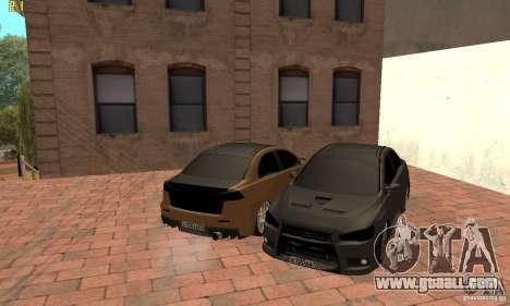 Mitsubishi Lancer Evolution Dag Style for GTA San Andreas right view