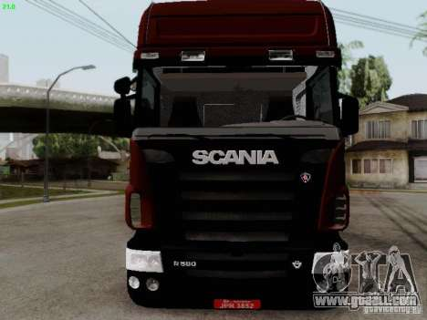 Scania R580 V8 Topline for GTA San Andreas left view