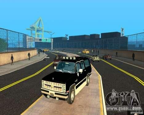 Сhevrolet 1986 Suburban for GTA San Andreas