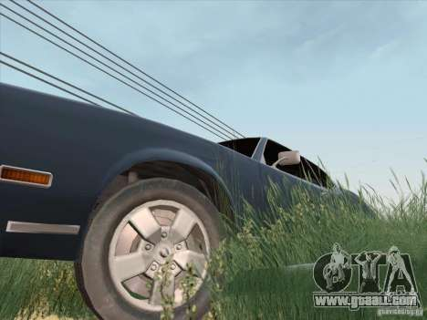 Sabre HD for GTA San Andreas right view