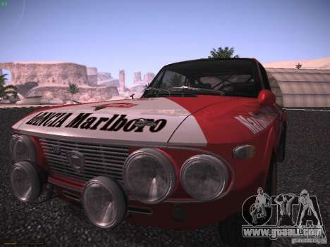 Lancia Fulvia Rally Marlboro for GTA San Andreas back left view