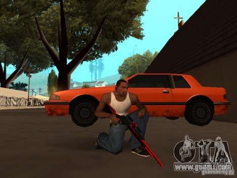 Red Chrome Weapon Pack for GTA San Andreas ninth screenshot