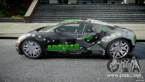 Bugatti Veyron 16.4 v1.0 new skin for GTA 4 left view